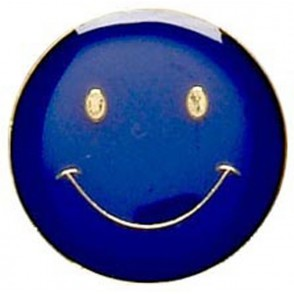 Smiley Badge - Blue