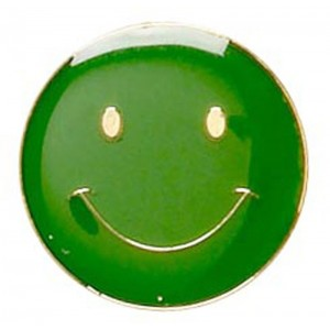 Smiley Badge - Green