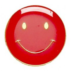 Smiley Badge - Red