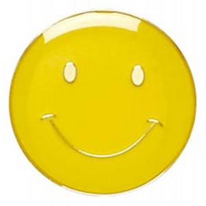 Smiley Badge - Yellow