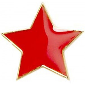 Star Badge - Red