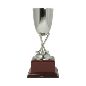 Cross Golf Club Nickle Plated Cup 23cm