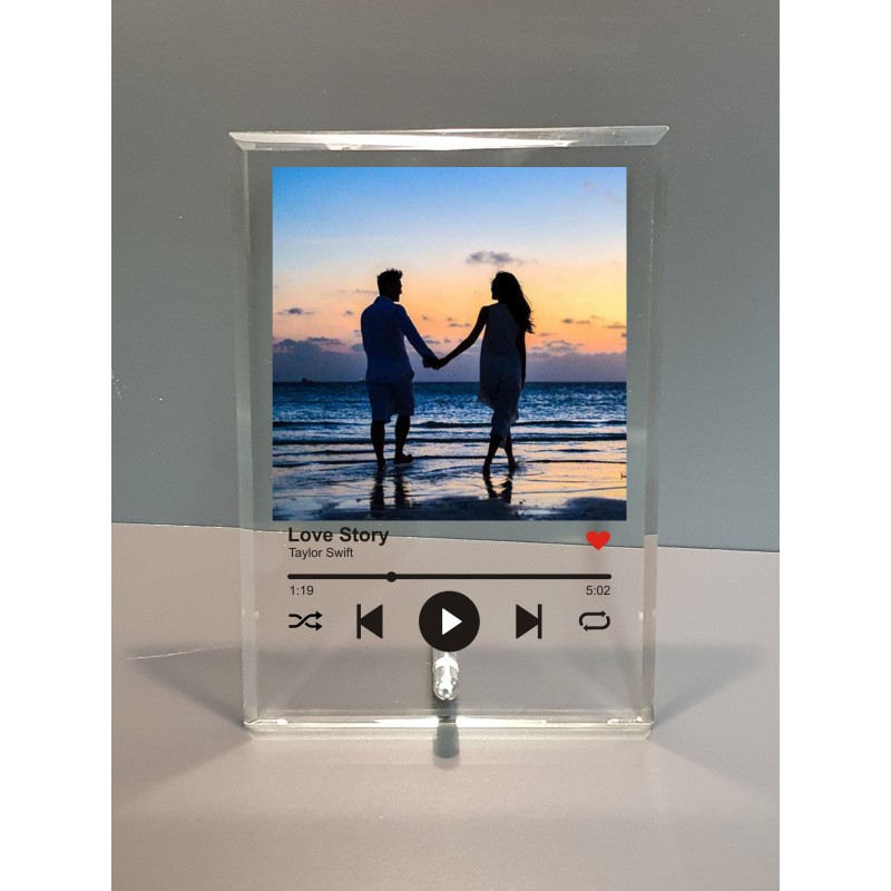 Personalised Song Glass Plaque